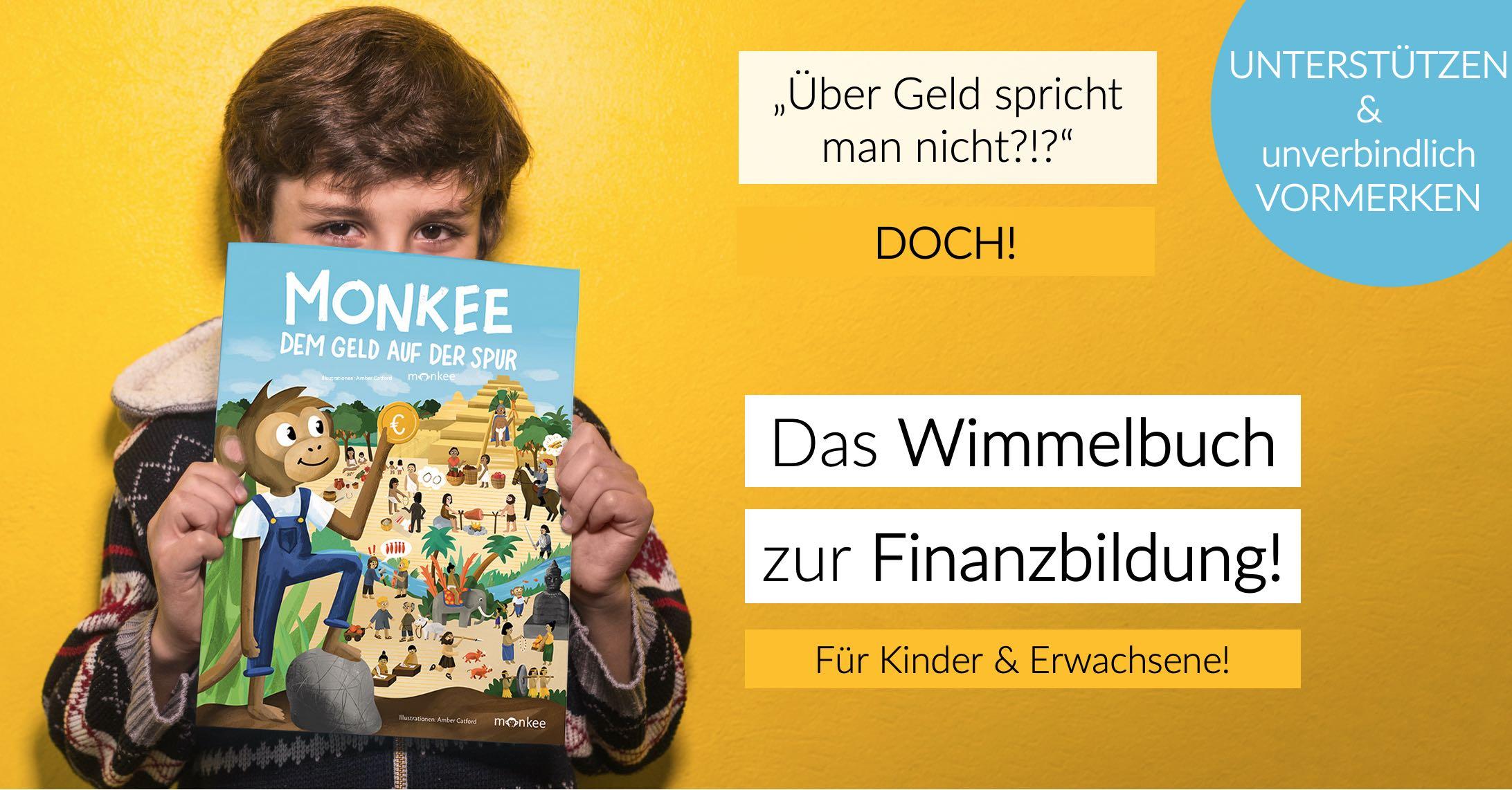 Monkee - dem Geld auf der Spur! Ein Wimmelbuch für Kindern